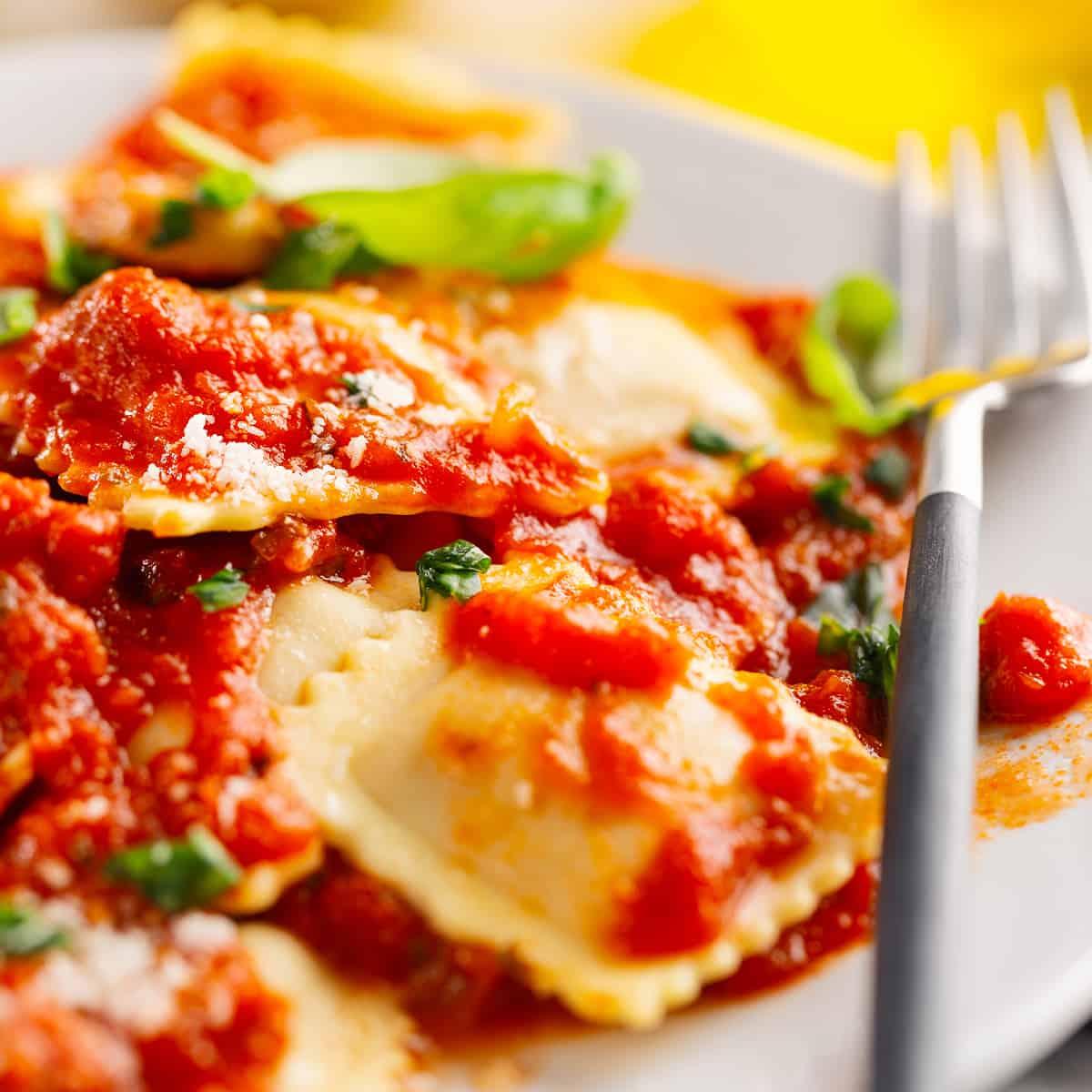 Ravioli tomaat